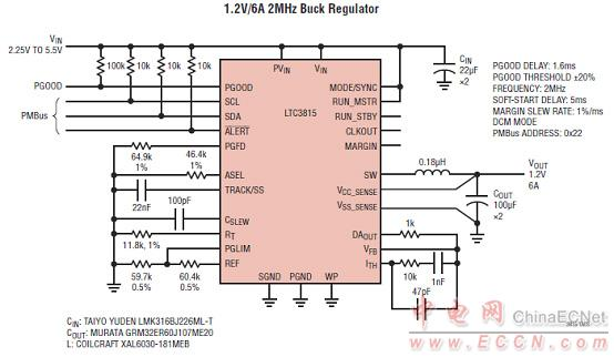 ltc3815应用电路图(3) 评估板dc2065a demonstration circuit 2065a i